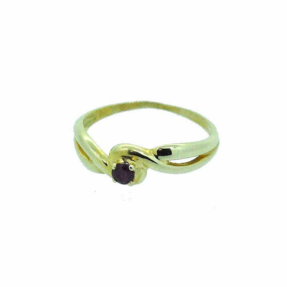 bague rubis or jaune 750/1000 1.80gr