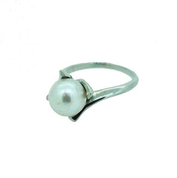 bague perle or blanc 750/1000 3.80gr