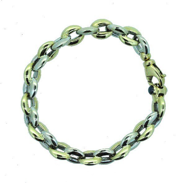 bracelet or jaune et or blanc 750/1000 16.40gr