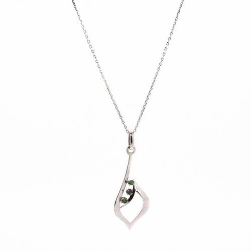 collier or blanc 750/1000 3.30gr