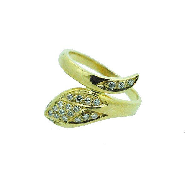 bague diamant or jaune 750/1000 5.50gr