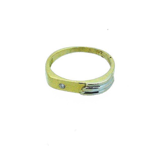 bague or jaune et or blanc 750/1000 3.50gr