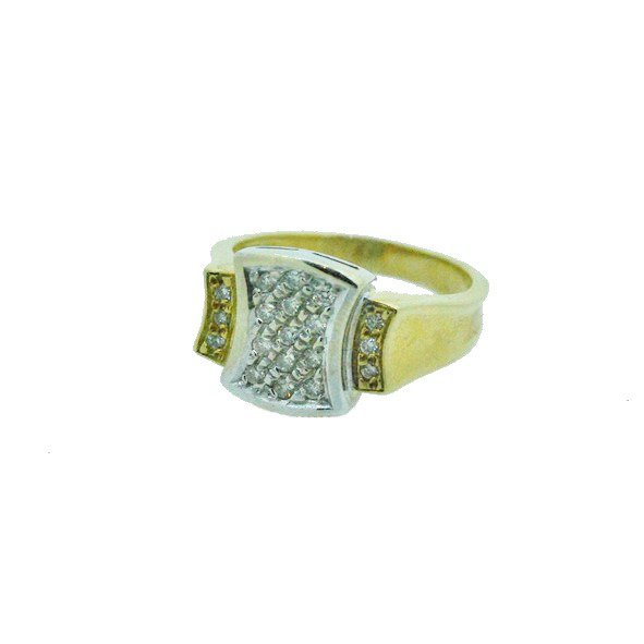 bague diamant or jaune 750/1000 6.80gr
