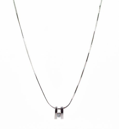 collier diamant or blanc 750/1000 5.30gr