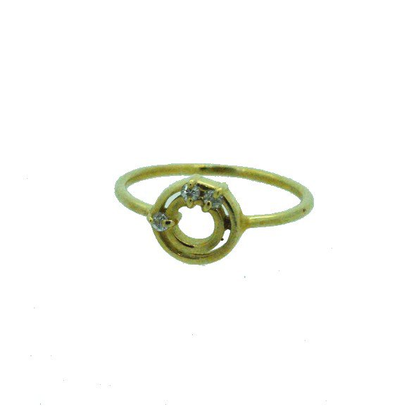 bague diamant or jaune 750/1000 1.90gr