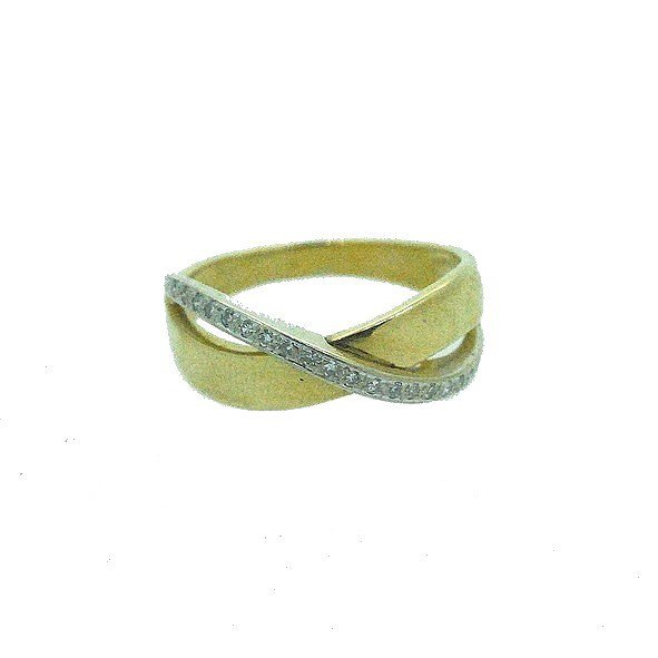 bague diamant or jaune 750/1000 3.90gr