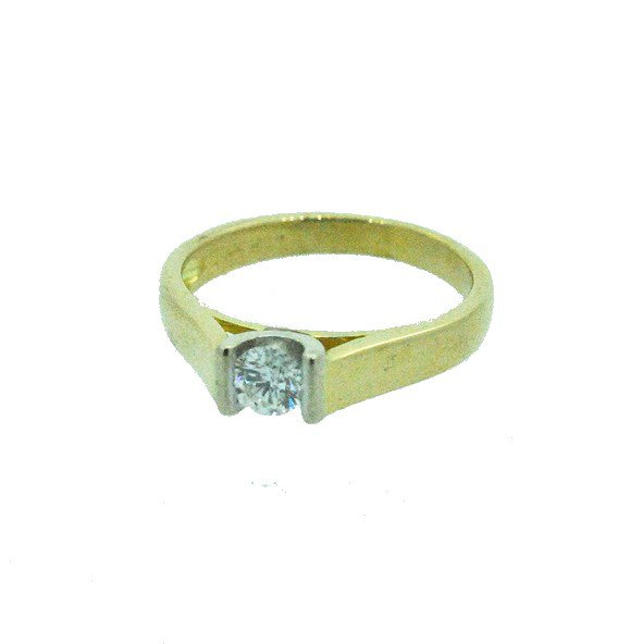 bague diamant or jaune 750/1000 3.20gr