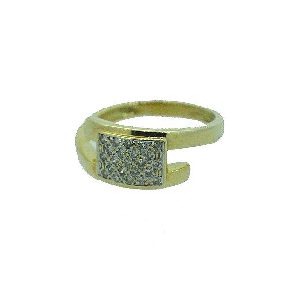 bague diamant or jaune 750/1000 4.40gr