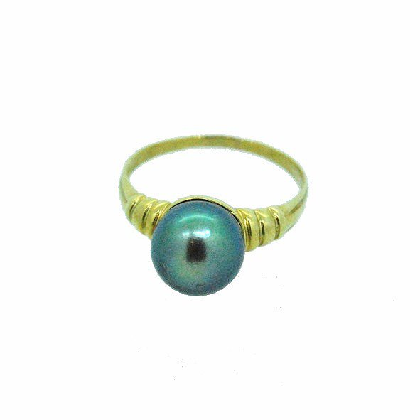 bague perle or jaune 750/1000 2.50gr