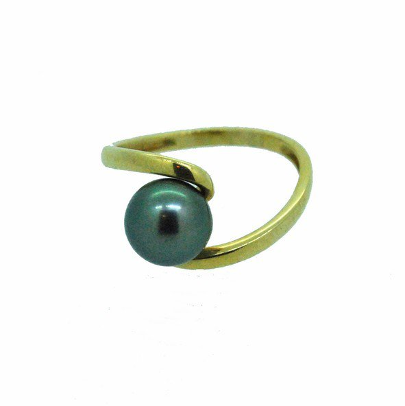 bague perle or jaune 750/1000 2.10gr