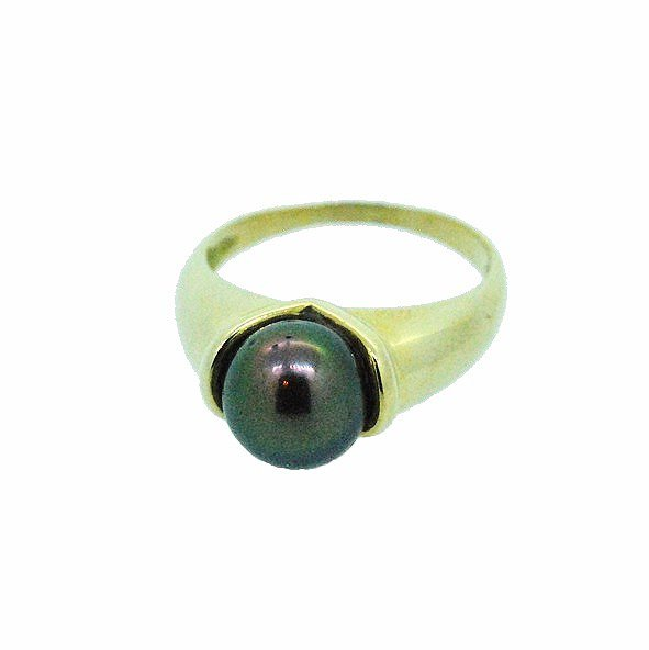 bague perle or jaune 750/1000 5.70gr