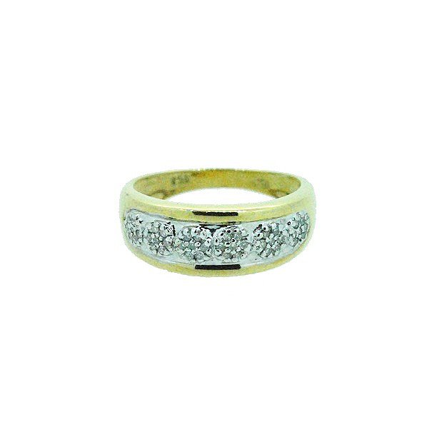 bague diamant or jaune 750/1000 2.40gr