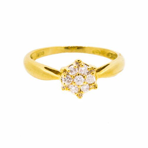 bague diamant or jaune 750/1000 2,30 gr