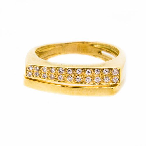 bague diamant or jaune 750/1000 4,80 gr