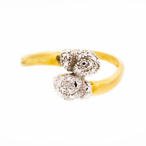 bague diamant or jaune 750/1000 2,60 gr