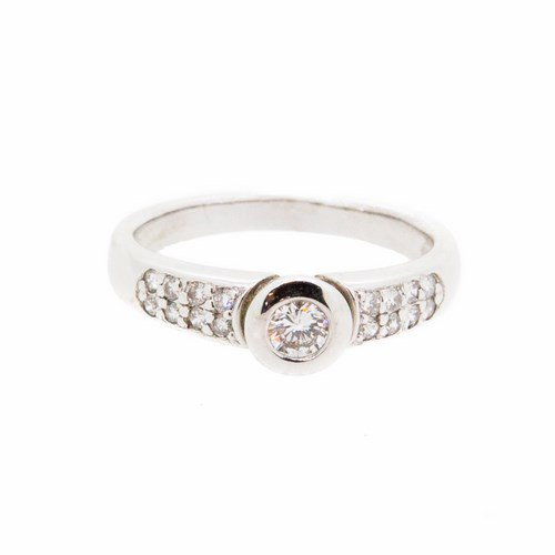 bague diamant or blanc 750/1000 3,60 gr