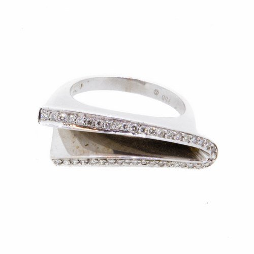 bague diamants or blanc 750/1000 7,90 gr