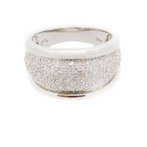 bague diamant or blanc 750/1000 6,70 gr