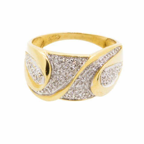 bague diamant or jaune 750/1000 5,20 gr