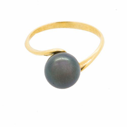 bague perle or jaune 750/1000 2,30 gr