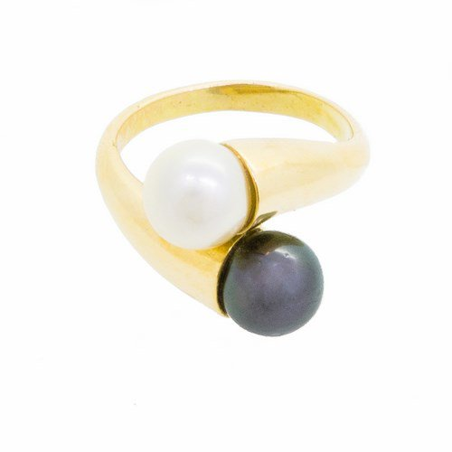 bague perle or jaune 750/1000 8,30 gr