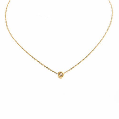 collier diamant or jaune 750/1000 2,40 gr