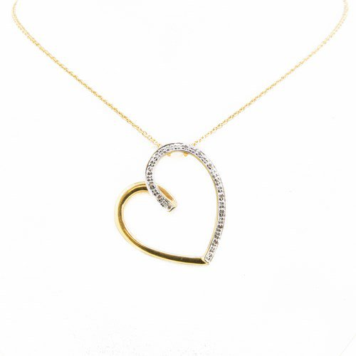collier diamant or jaune et or blanc 750/1000 3,80 gr