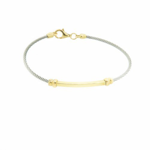 bracelet enfant cable or jaune 750/1000 2,50 gr