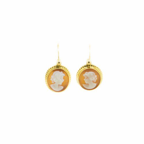 boucles d'oreille camé or jaune 750/1000 2,20 gr