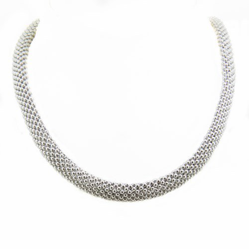 collier argent fermoir empierre