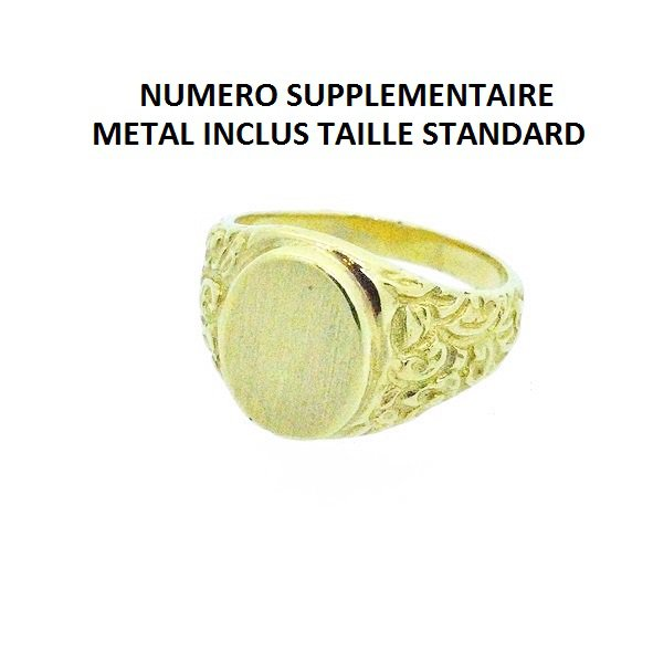 NUMERO SUPPLEMENTAIRE METAL INCLUS TAILLE STANDARD