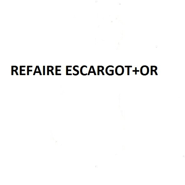 REFAIRE ESCARGOT +OR