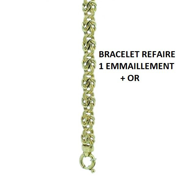 BRACELET REFAIRE 1 EMMAILLEMENT +OR